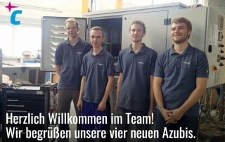 Vier neue Azubis bei compact Kältetechnik GmbH 2017