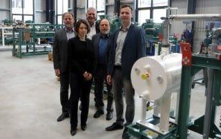 Hengstermann,Hering, Gregor, Gregor, Leuteritz in der neuen Werkhalle bei compact Kältetechnik GmbH