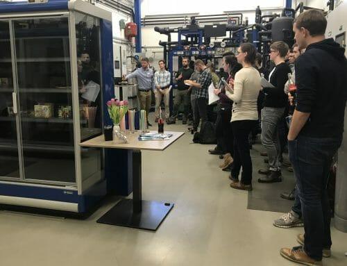 Studenten der TU Dresden auf Exkursion bei compact Kältetechnik