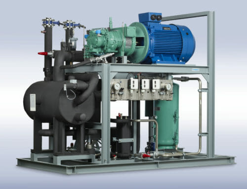 800 kW Ammonia heat pump system